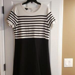 Black & white talbots dress